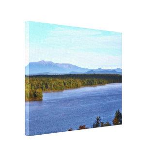 Mt. Katahdin - I95 Scenic Turnout Gallery Wrap Canvas