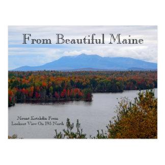 Mt. Katahdin In Fall Postcard