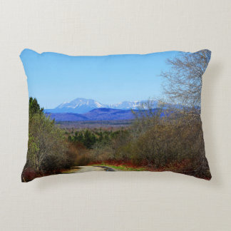 Mt Katahdin Seen from Dirt Road Staceyville Accent Pillow
