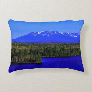 Mt Katahdin Seen From Scenic Turnoff Interstate Accent Pillow