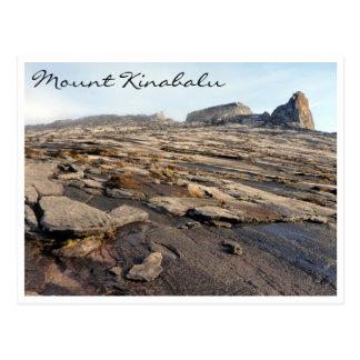 mt kinabalu rocky postcard