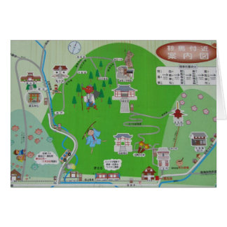 Mt. Kurama Map Greeting Card
