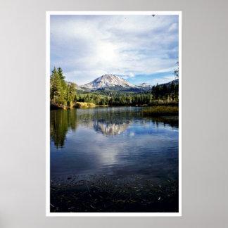 Mt. Lassen From Manzanita Lake Print