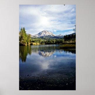 Mt. Lassen From Manzanita Lake Poster