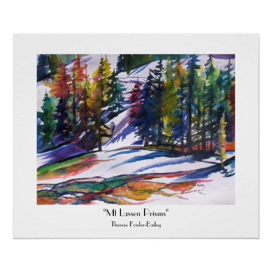 Mt Lassen Prisms Fine ART Print