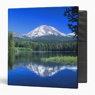Mt. Lassen rises above Manzanita Lake 3 Ring Binder
