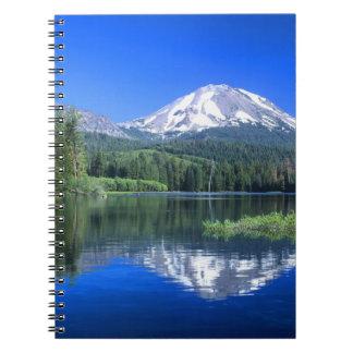 Mt. Lassen rises above Manzanita Lake Notebooks