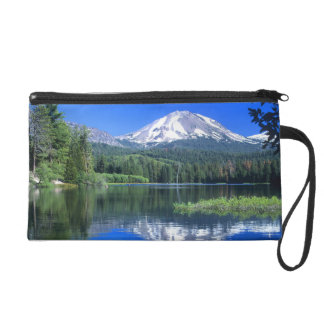 Mt. Lassen rises above Manzanita Lake Wristlet Purse