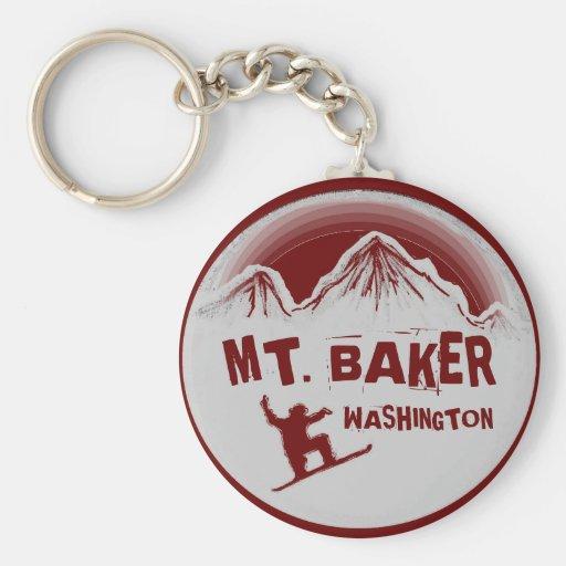 Mt. Llavero rojo de la snowboard de Washington del