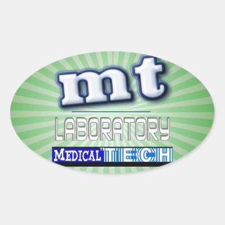 MT LOGO - LABORATORY MEDICAL TECHNOLOGIST OVAL STICKER