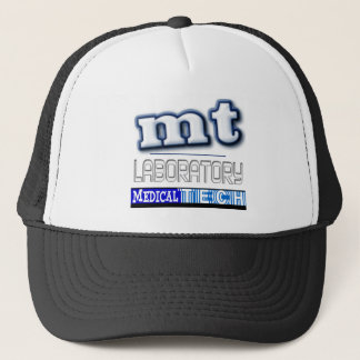 MT LOGO - LABORATORY MEDICAL TECHNOLOGIST TRUCKER HAT