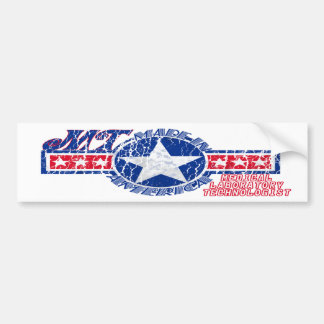 MT MADE IN THE USA PATRIOTIC MEDICAL TECHNOLOGIST BUMPER STICKER