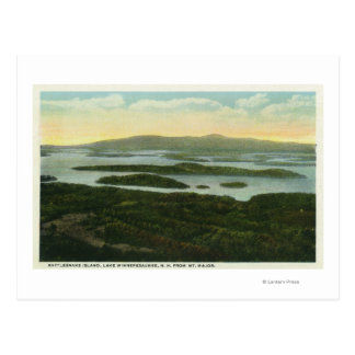 Mt. Major Aerial View of Rattlesnake Island, Postcard