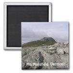 Mt. Mansfield, Vermont Imán Cuadrado