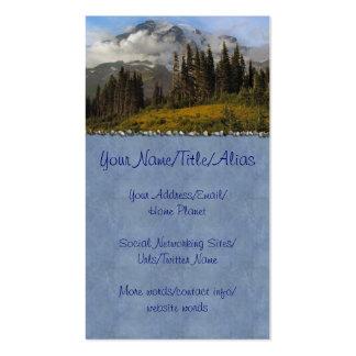 Mt más lluvioso tarjetas de visita