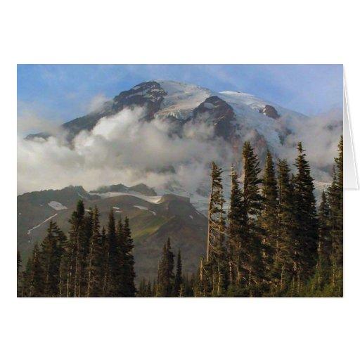 Mt más lluvioso tarjeta de felicitación