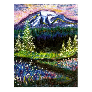 Mt más lluvioso tarjetas postales