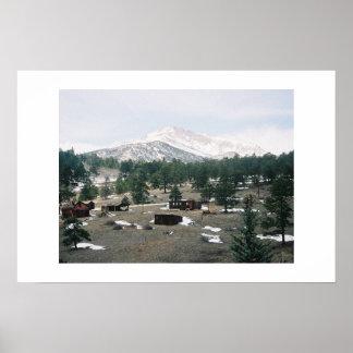 Mt Más manso Colorado Poster