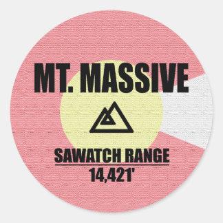 Mt. Massive Classic Round Sticker