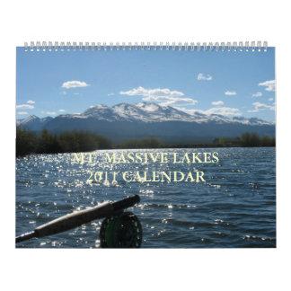 Mt. Massive Lakes 2011 Calendar