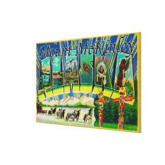 Mt. McKinley, Alaska - Large Letter Scenes Stretched Canvas Prints