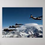 Mt McKinley Blue Angel Flyby Print
