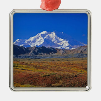 Mt . McKinley Denali National Park , Alaska. Metal Ornament