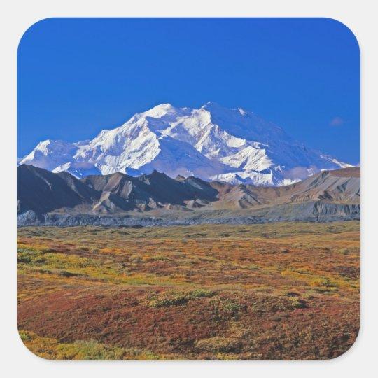 Mt . McKinley Denali National Park , Alaska. Square Sticker