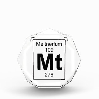 Mt - Meitnerium Acrylic Award