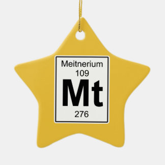 Mt - Meitnerium Ceramic Ornament