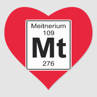 Mt - Meitnerium Heart Sticker