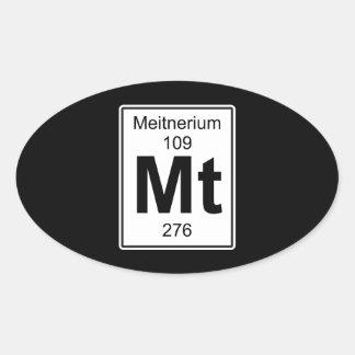 Mt - Meitnerium Oval Sticker