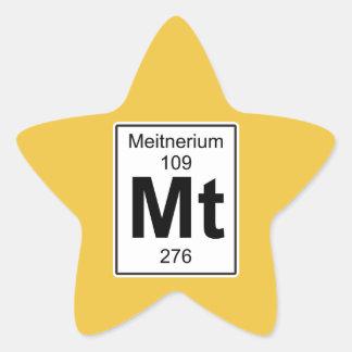Mt - Meitnerium Star Sticker