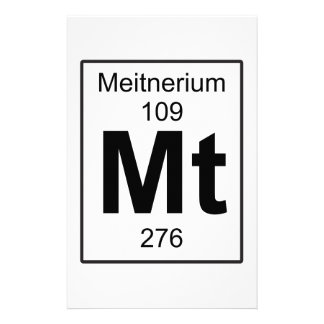 Mt - Meitnerium Stationery