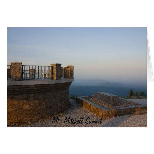 Mt. Mitchell Summit Card