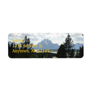 Mt. Moran custom return address labels