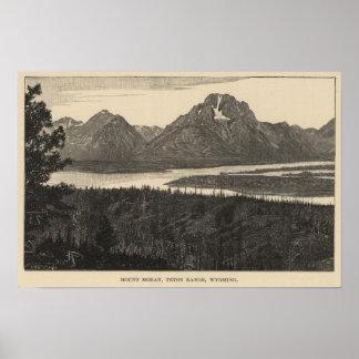 Mt Moran, Wyo Poster