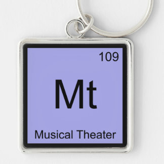 Mt - Musical Theater Chemistry Element Symbol Tee Keychain