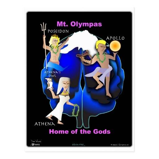 Mt Olympas - casero de dioses Tarjetas Postales