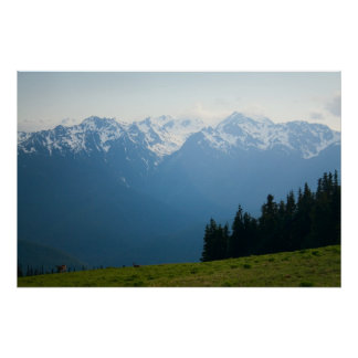 Mt. Olympus Peaks at Hurricane Ridge Print