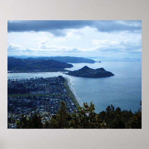 Mt Paku from Pauanui Hilltop print