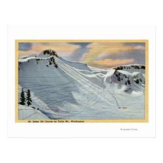 Mt. Panadero, Washington - vista del esquí del Postal