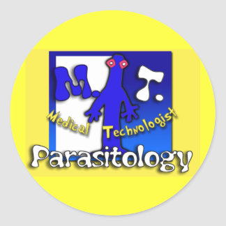 MT - PARASITOLOGY - MEDICAL TECHNOLOGIST (LAB) CLASSIC ROUND STICKER
