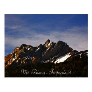 Mt. Pilatus en photo lucerne switzerland postcard Postal