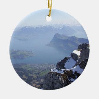 Mt. Pilatus Switzerland Christmas Tree Ornaments