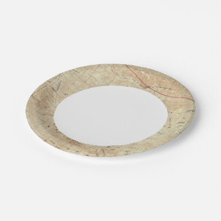 Mt Pinos quadrangle showing San Andreas Rift 7 Inch Paper Plate