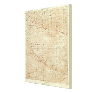 Mt Pinos quadrangle showing San Andreas Rift Canvas Print