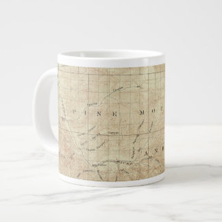 Mt Pinos quadrangle showing San Andreas Rift Giant Coffee Mug