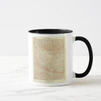 Mt Pinos quadrangle showing San Andreas Rift Mug