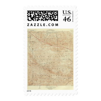 Mt Pinos quadrangle showing San Andreas Rift Postage Stamps